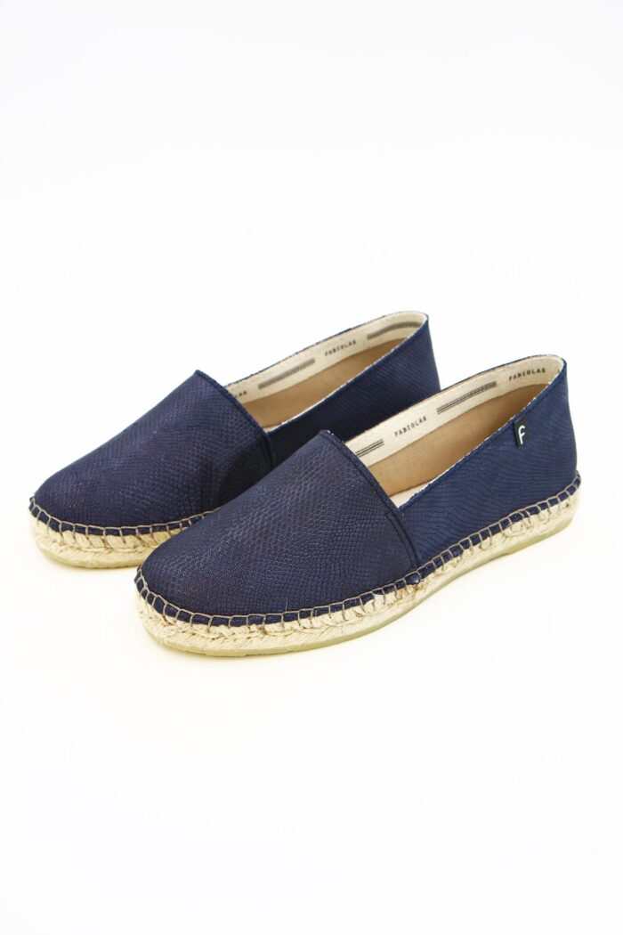 BLUE LEATHER WOMAN SHOES