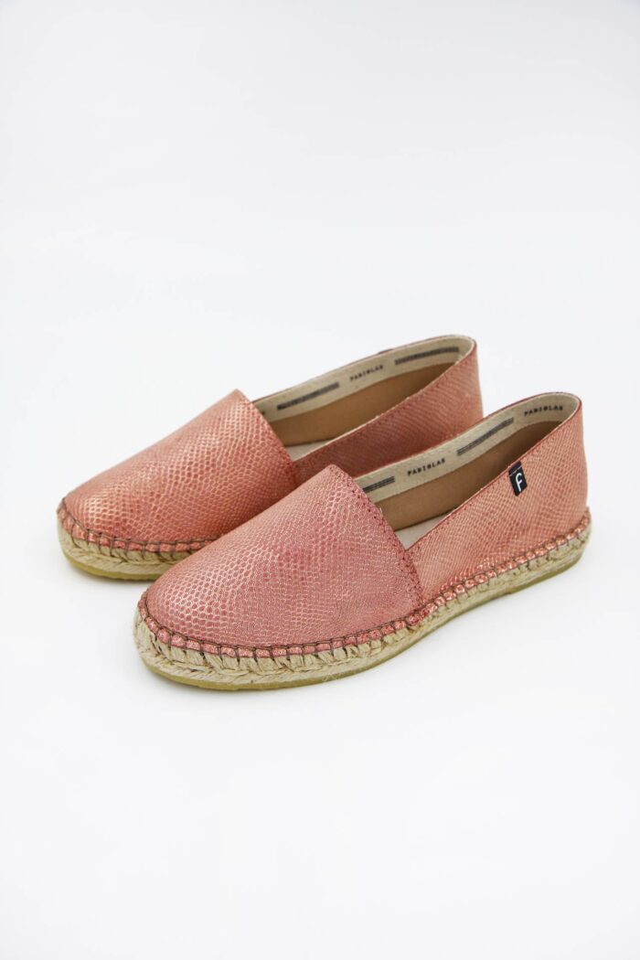 PINK LEATHER WOMAN SHOES