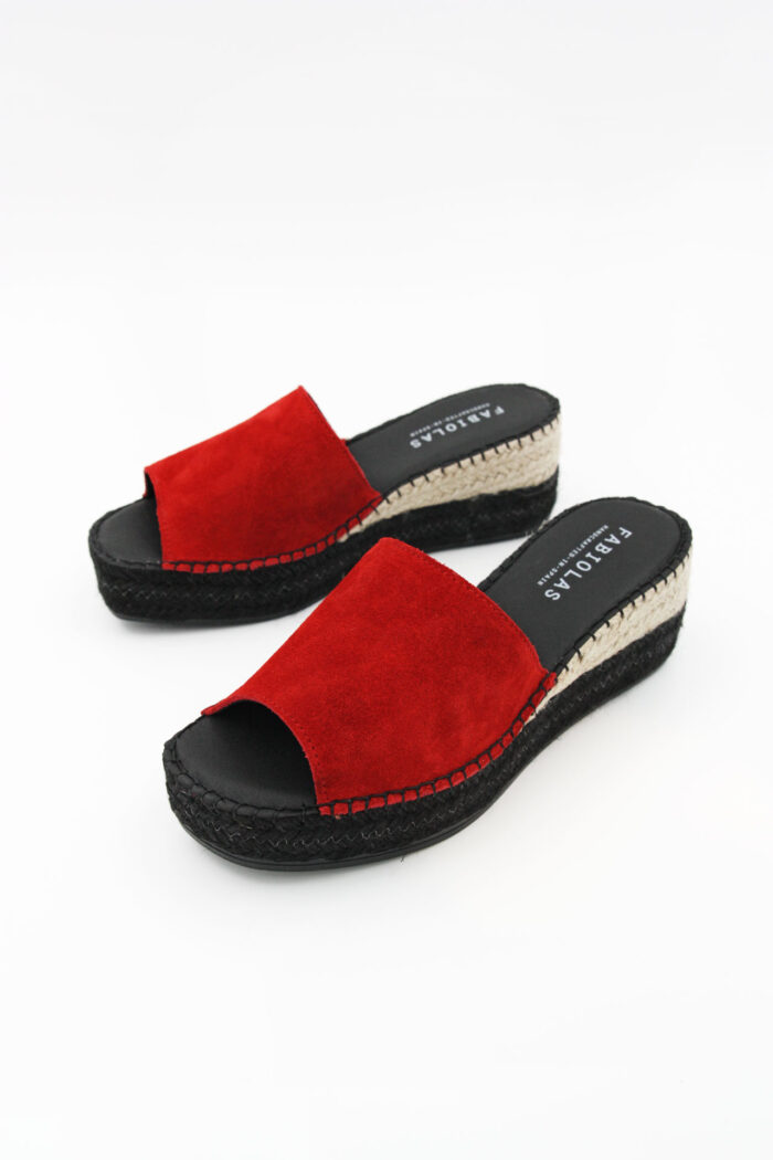 RED SUEDE WOMAN SHOES