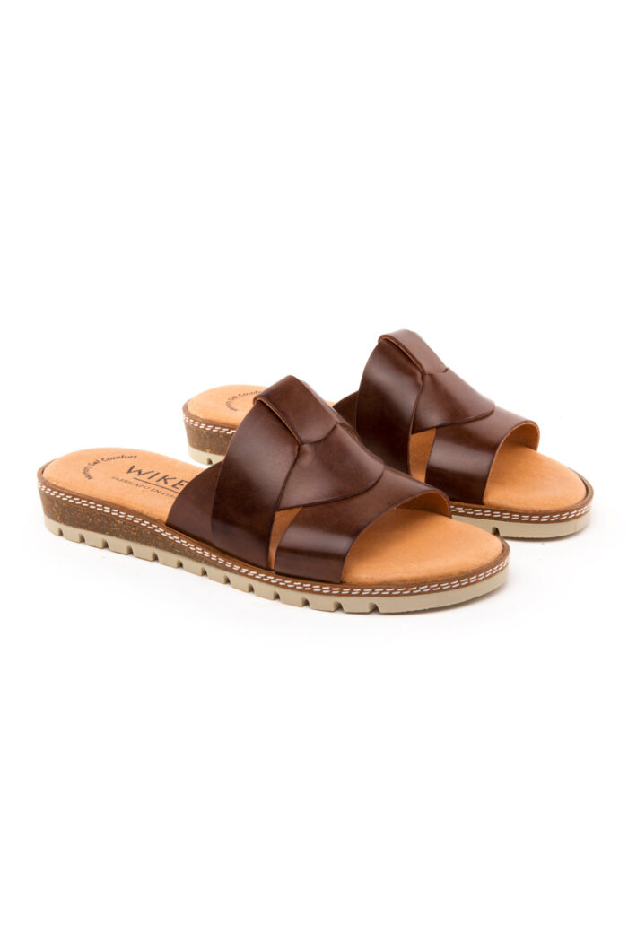 LEATHER BROWN SANDAL