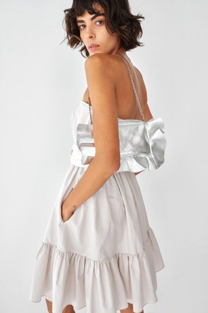 Luminous Instinct Shoulder Bag silver