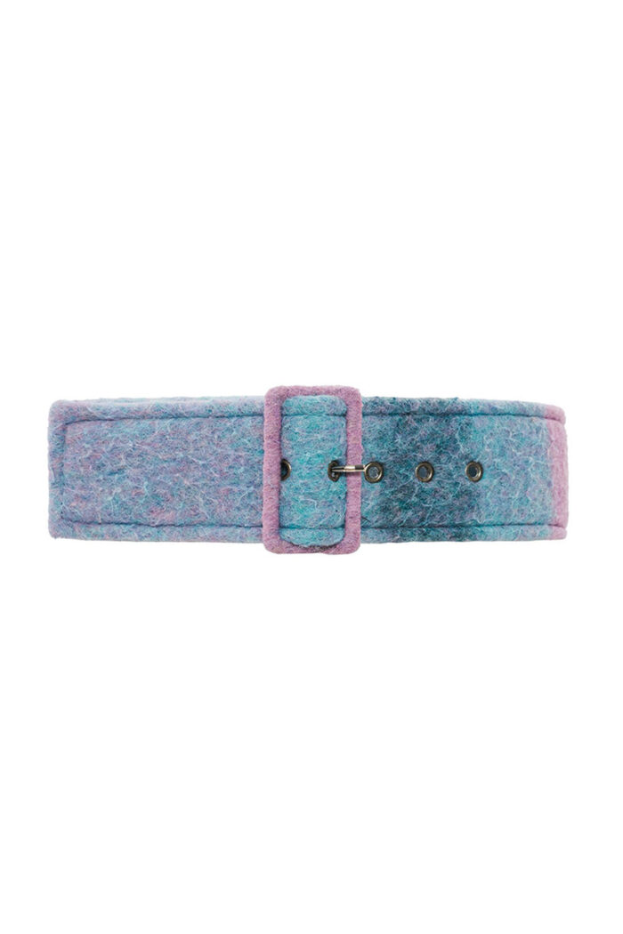 MULTI TURQUOISE CHECKED BELT