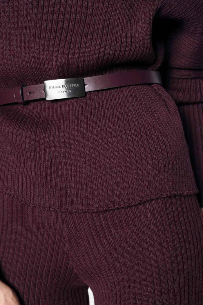BELT WITH BUCKLE ROMEO RED