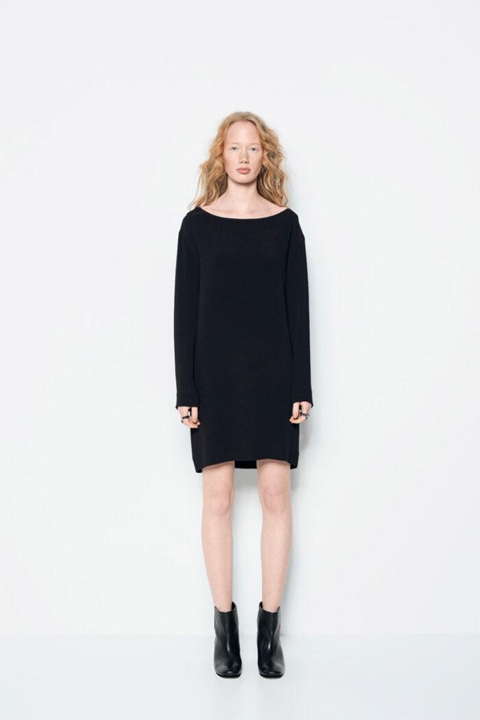 ZERO WASTE BOXY DRESS BLACK