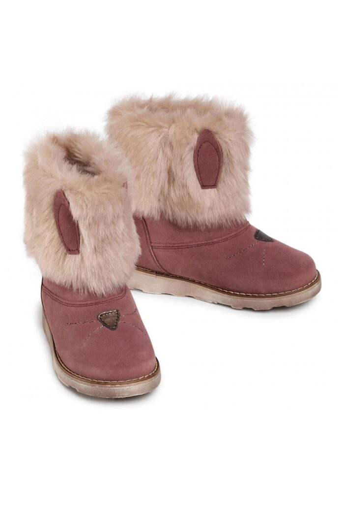 Girls' leather boots pink