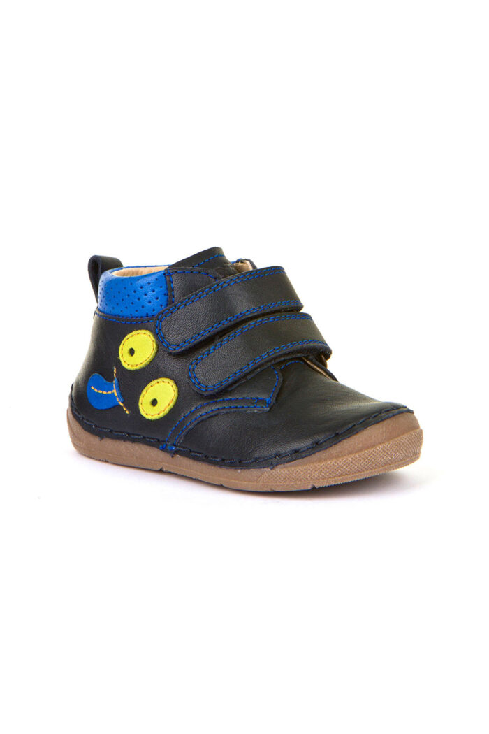 Boys' leather shoe blue
