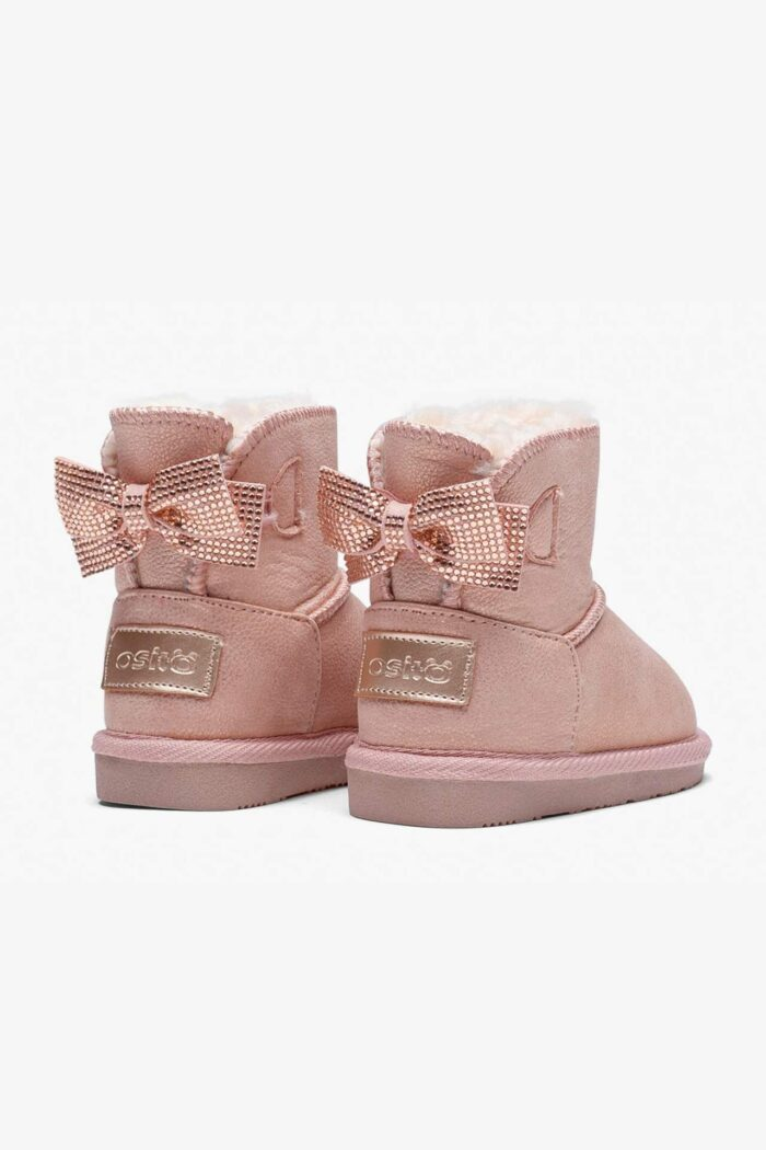 BABY'S BOW AUSTRALIAN BOOTS PINK