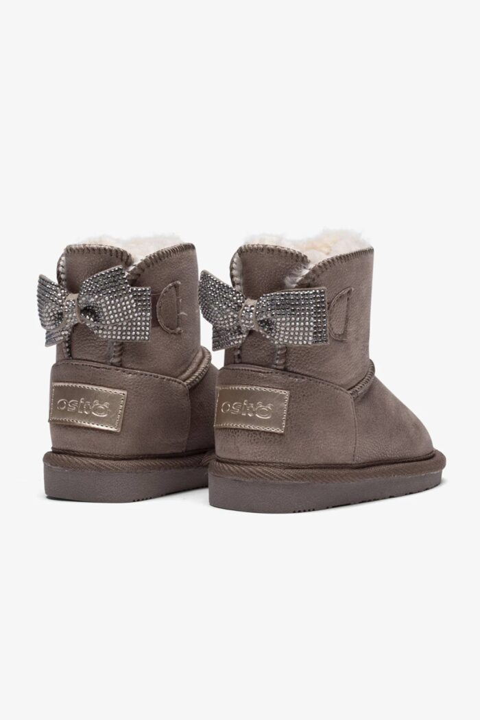 BABY'S BOW AUSTRALIAN BOOTS TAUPE