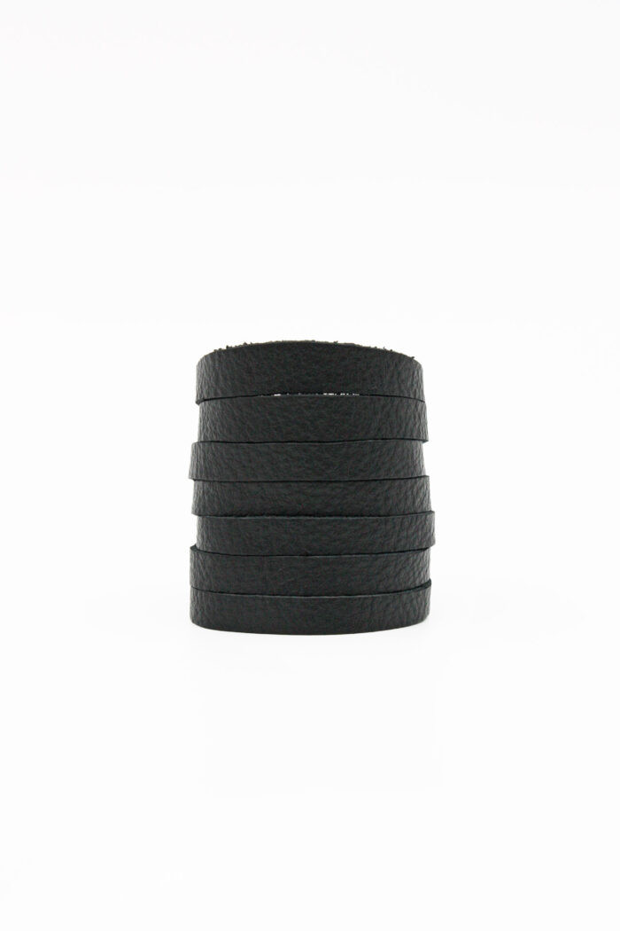 JUST CUT LEATHER BRACELET BLACK