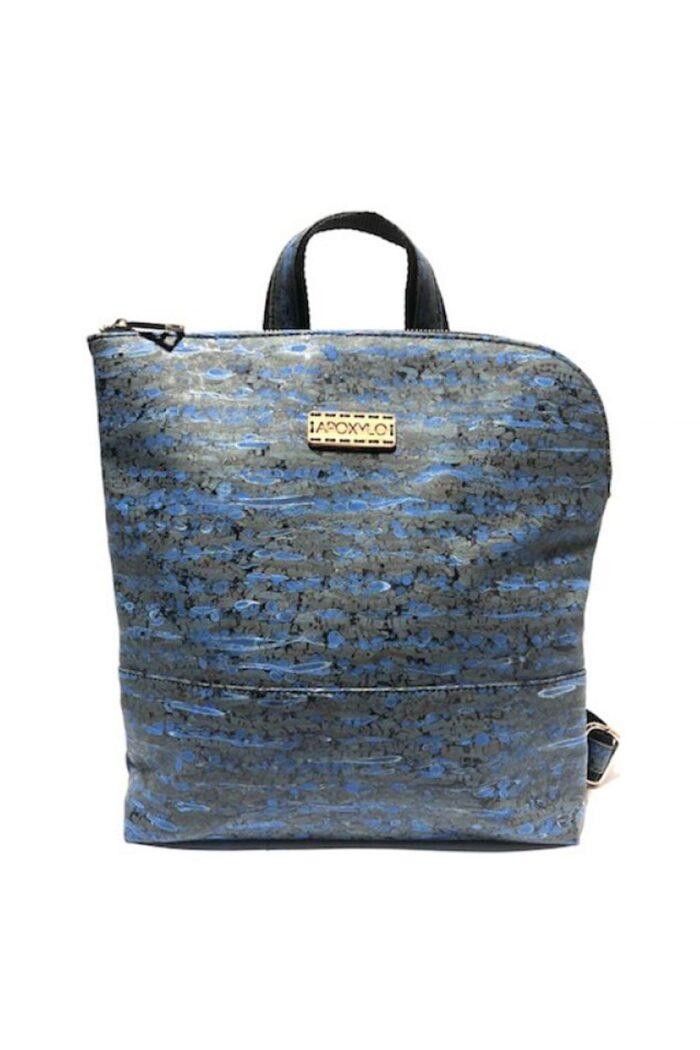 Backpack Corner Blue fennel natural cork