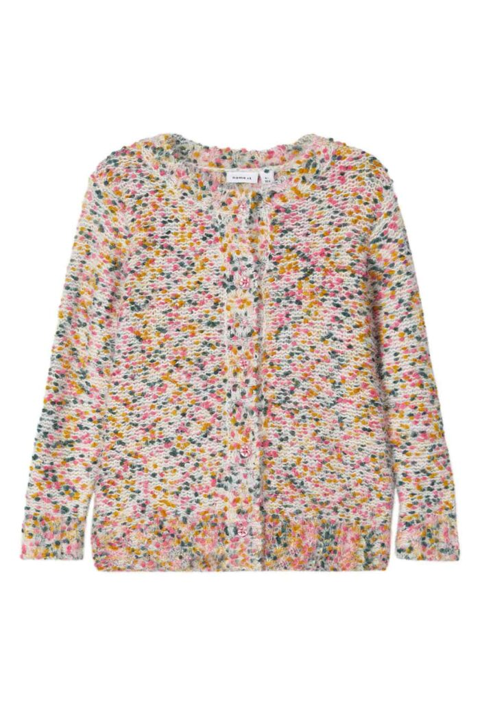 MULTI COLOURED KNITTED CARDIGAN