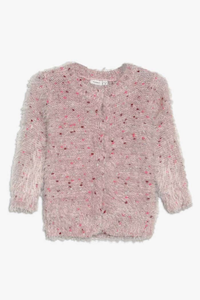 MULTI PINK KNITTED CARDIGAN