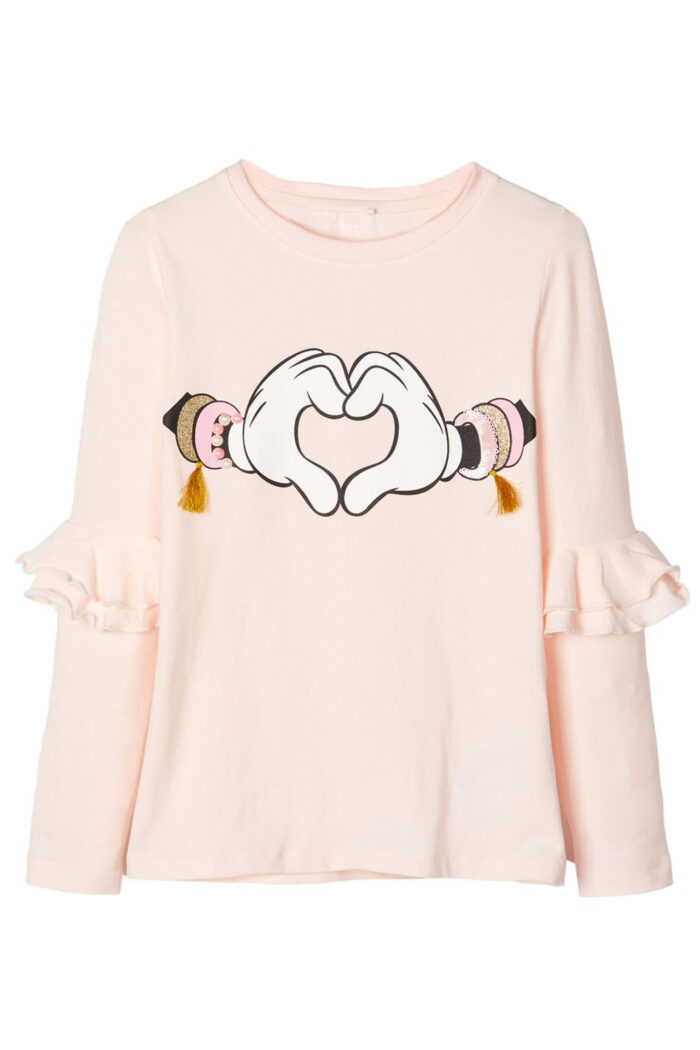 DISNEY GLITTER MINNIE BLOUSE PINK