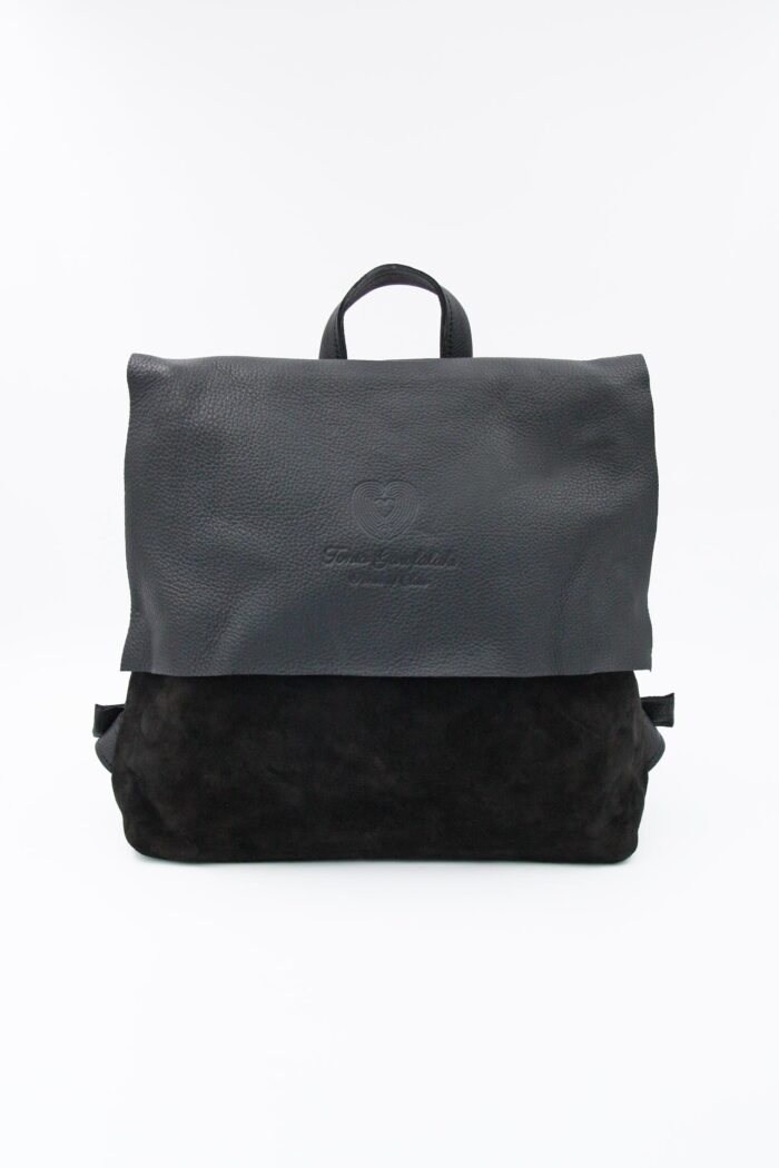 BACKPACK SQUARE LEATHER BLACK