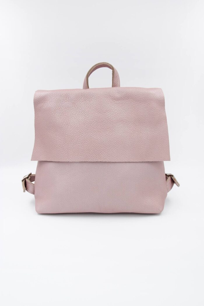 BACKPACK SQUARE LEATHER PINK