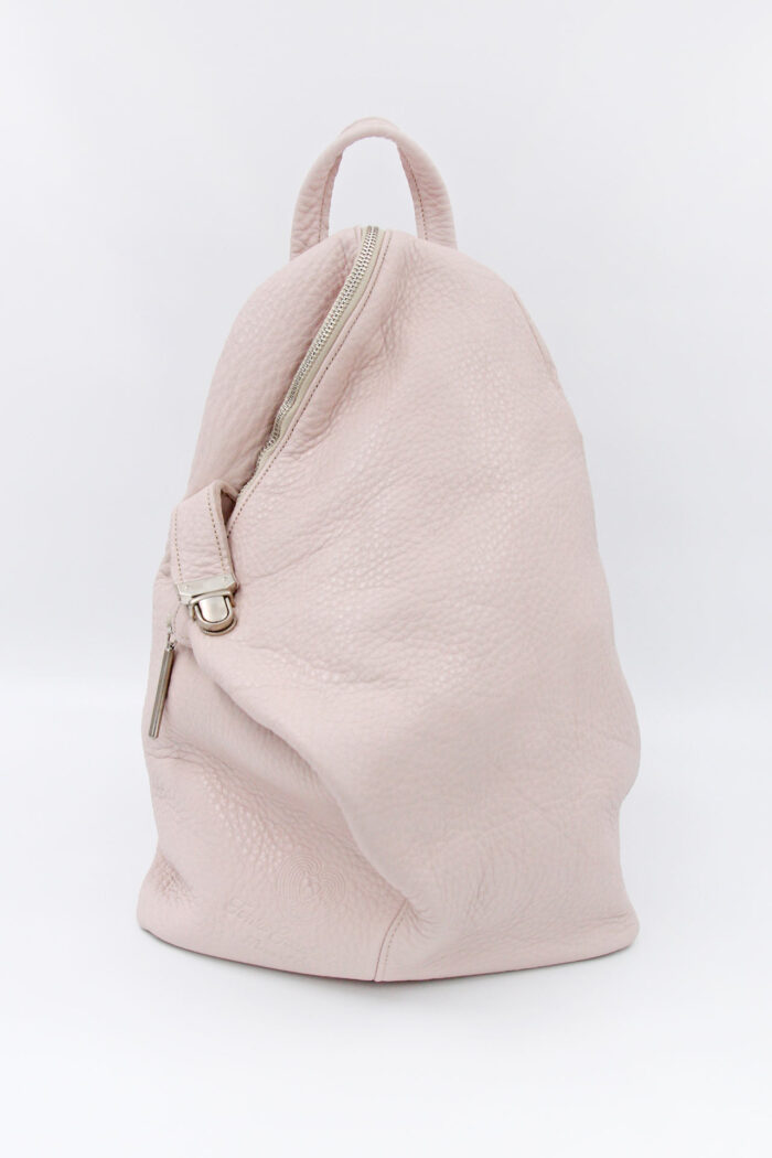 BACKPACK TRIANGLE LEATHER PINK