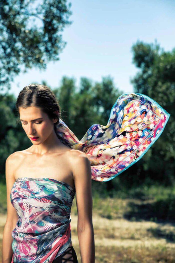 Silk foulard Melina