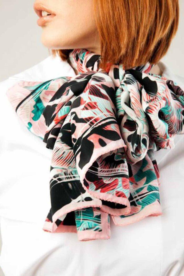 Silk foulard Diandra pink