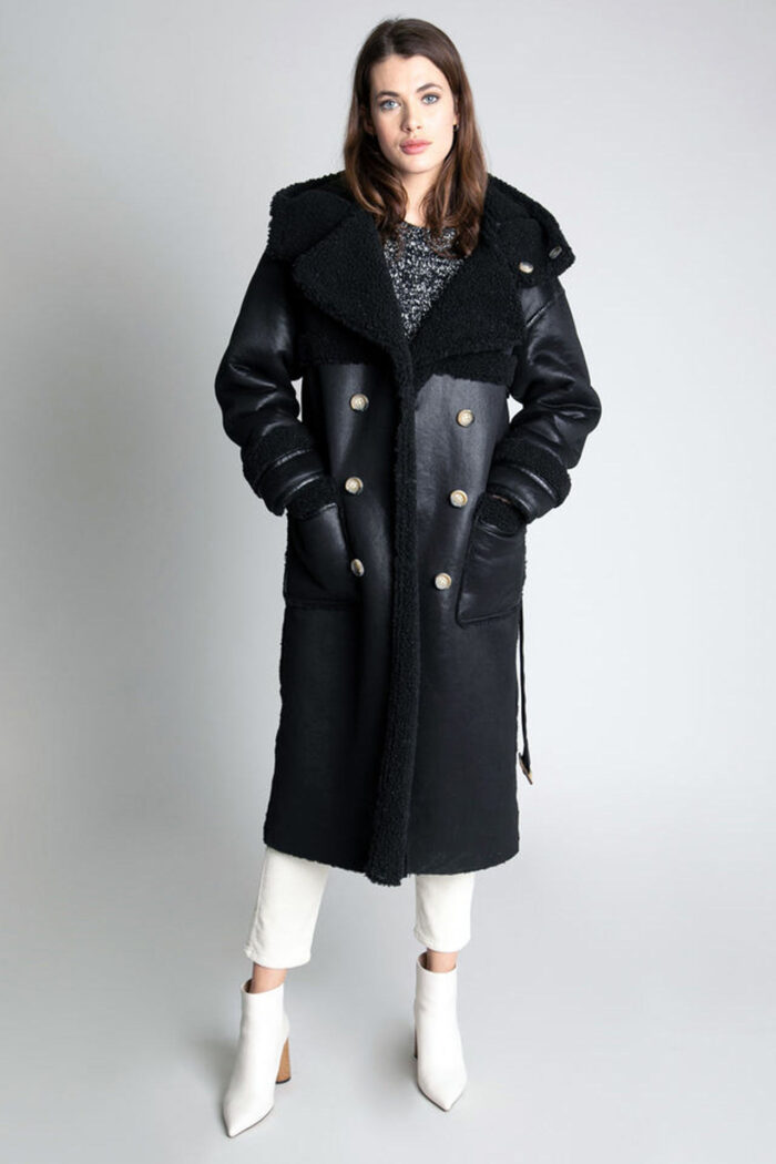 REVERSIBLE HOODED COAT BLACK