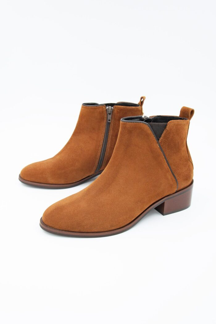 TABA SUEDE FLAT ANKLE BOOTS