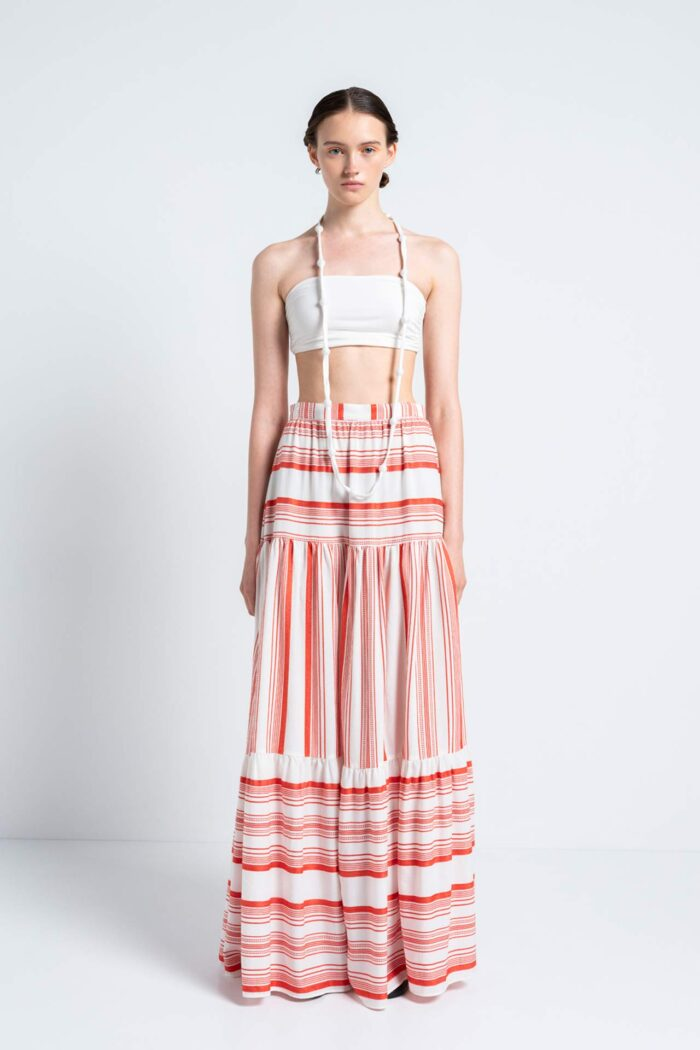 Dancing Lines Boho Skirt