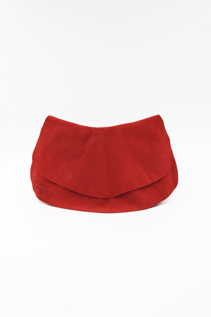 WAVES LEATHER WAIST BAG RED