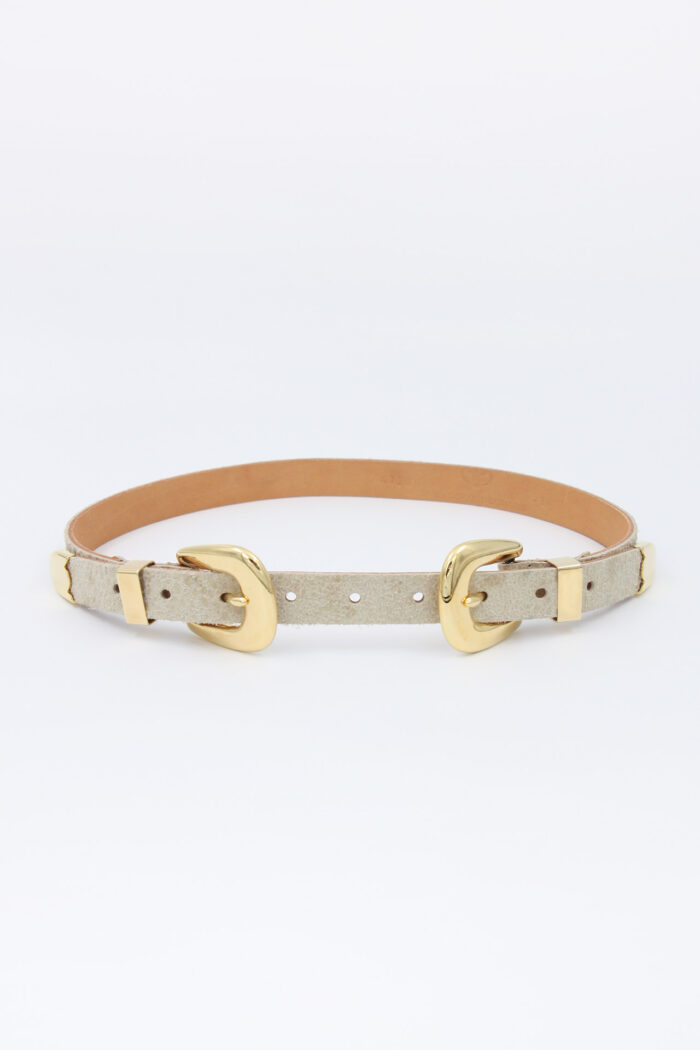 HANDCRAFTED LEATHER BELT beige