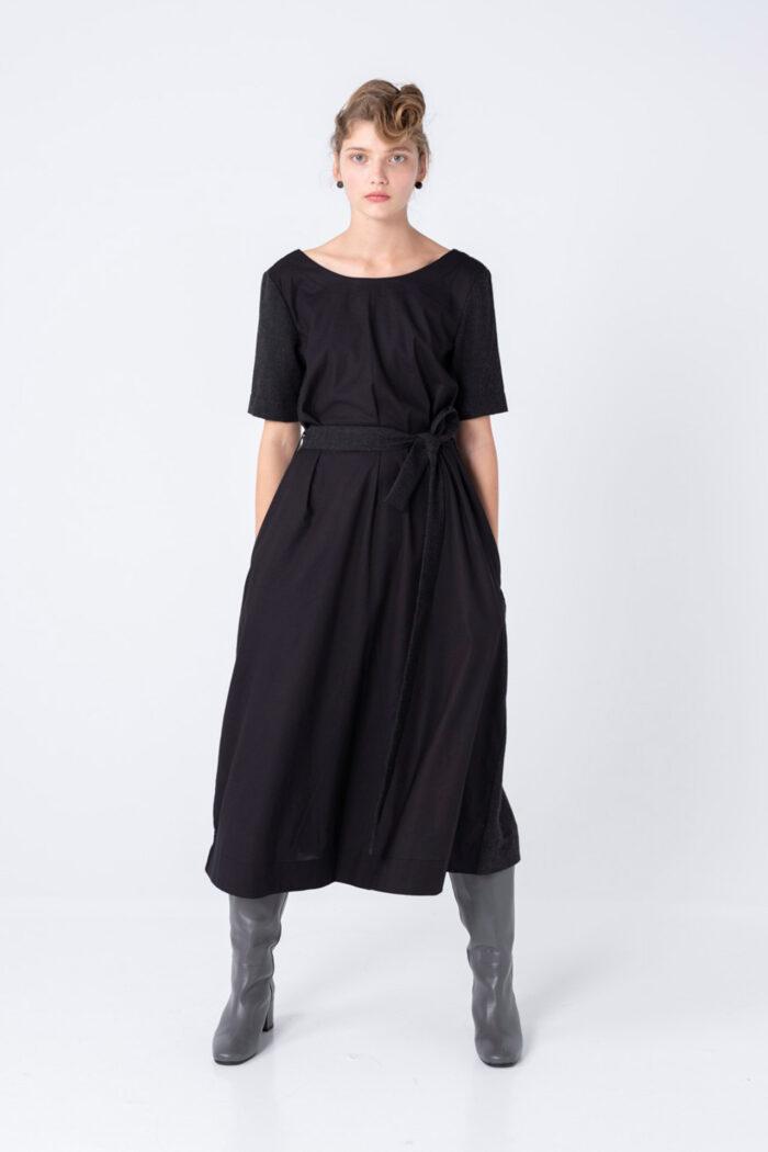 BLACK SURPRISE DOUBLE MAXI DRESS