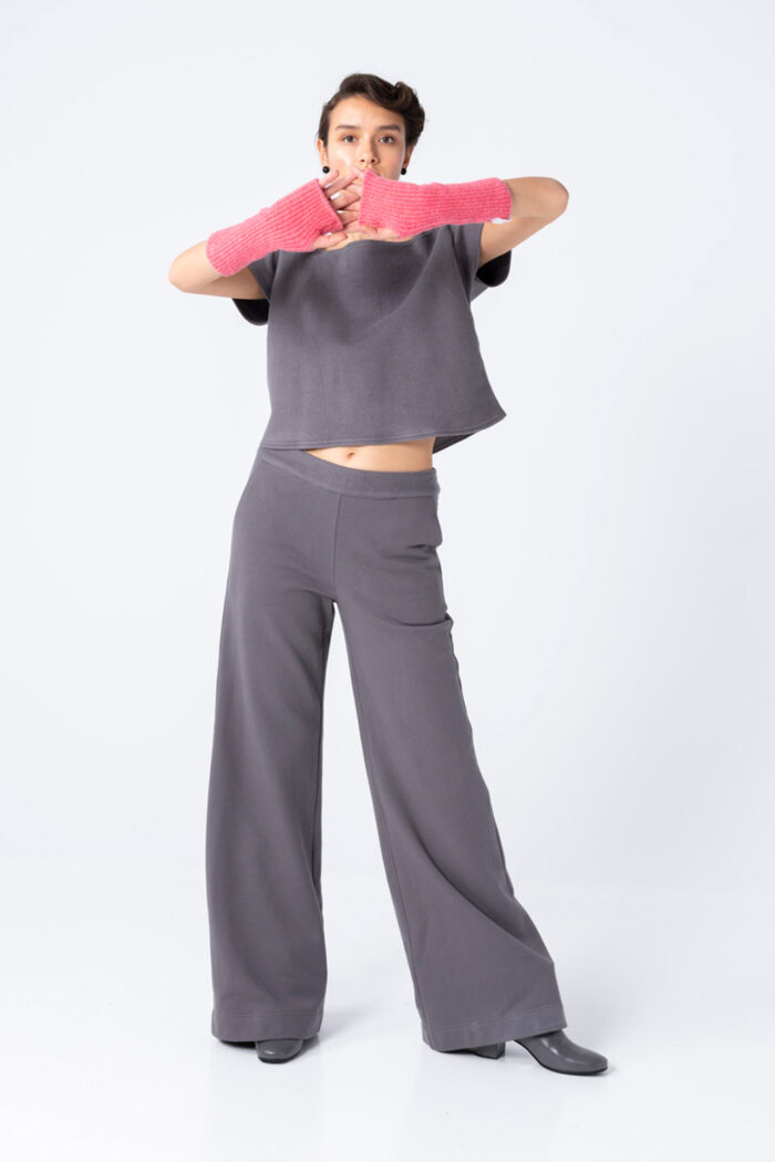 GREY WELL-BEHAVED WARMS WIDE PANTS