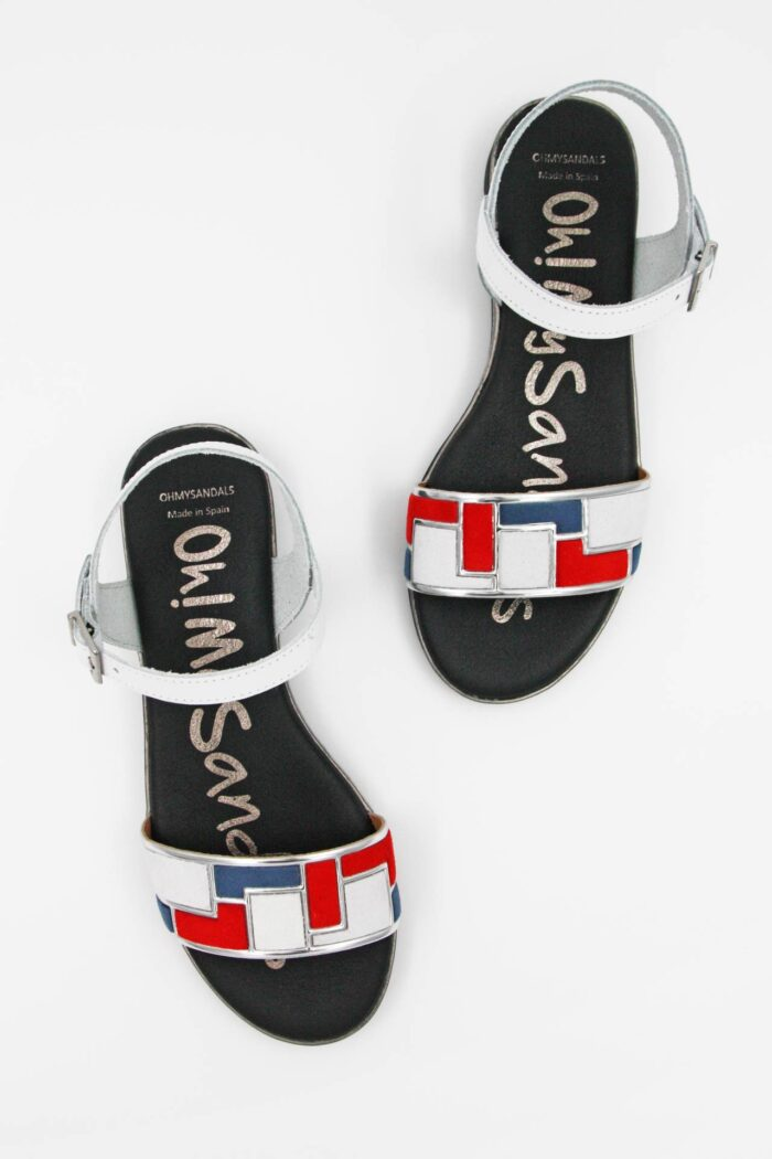 WHITE LEATHER ANATOMIC SANDALS