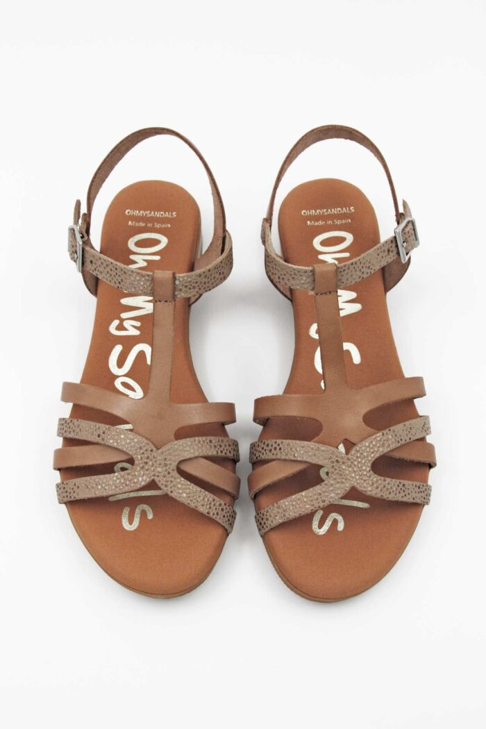 TAUPE/BRONZE LEATHER ANATOMIC SANDALS