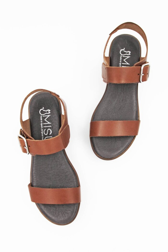 BROWN LEATHER ANATOMIC SANDALS