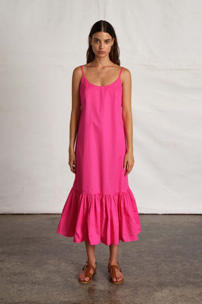 WATERMELON PINK MAXI DRESS PAPERY HEART