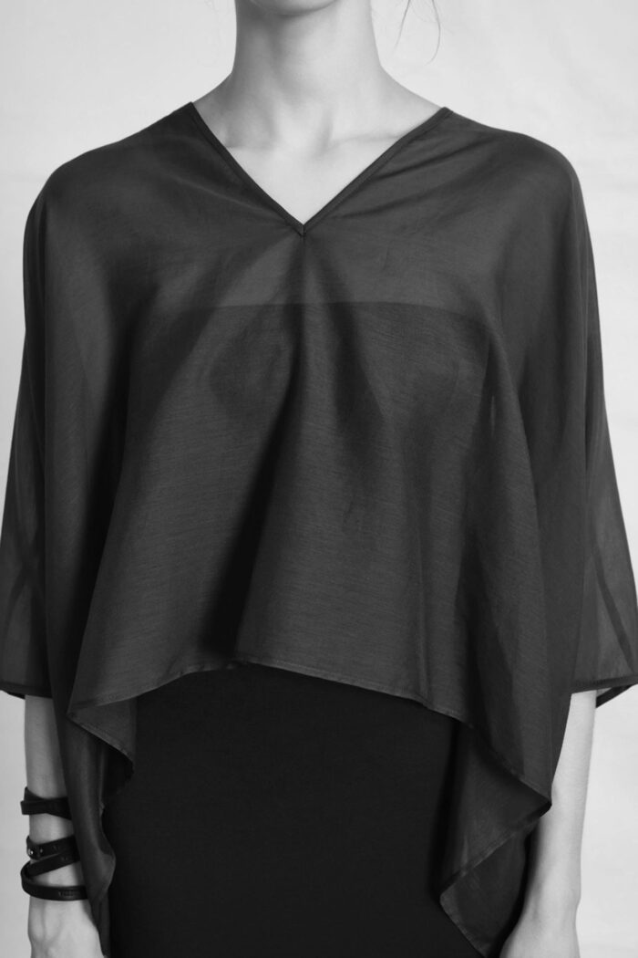 BLACK SHORT KAFTAN ZERO WASTE