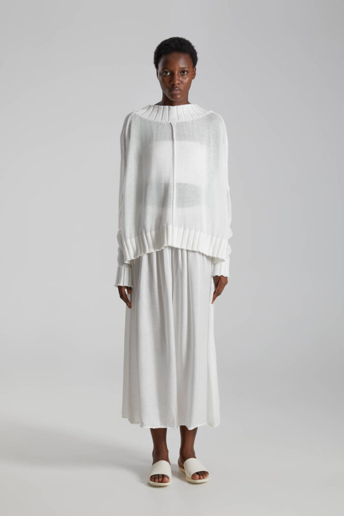 OFF WHITE SANGRE KNITTED BLOUSE