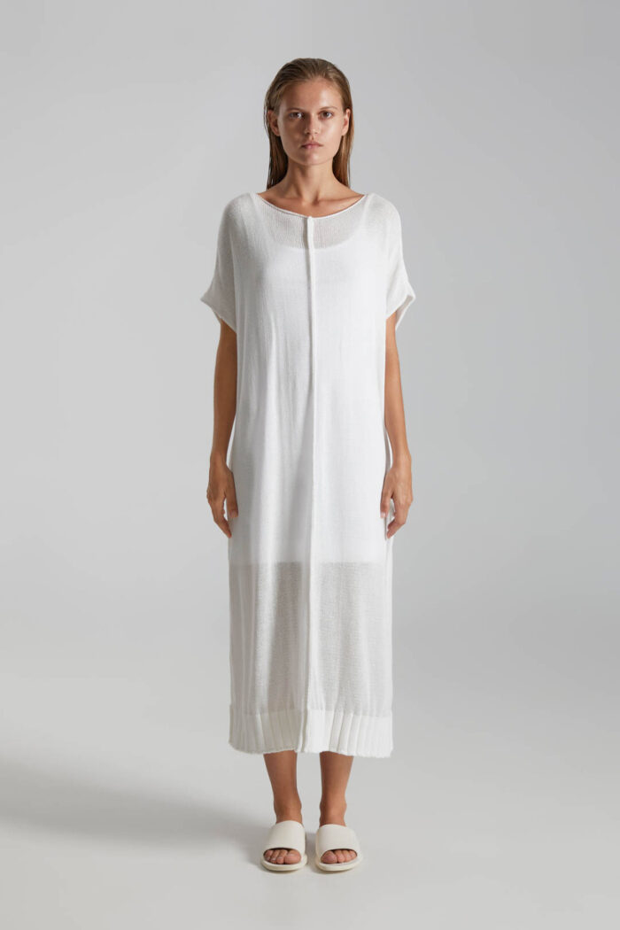 OFF WHITE LINGUA KNITTED DRESS