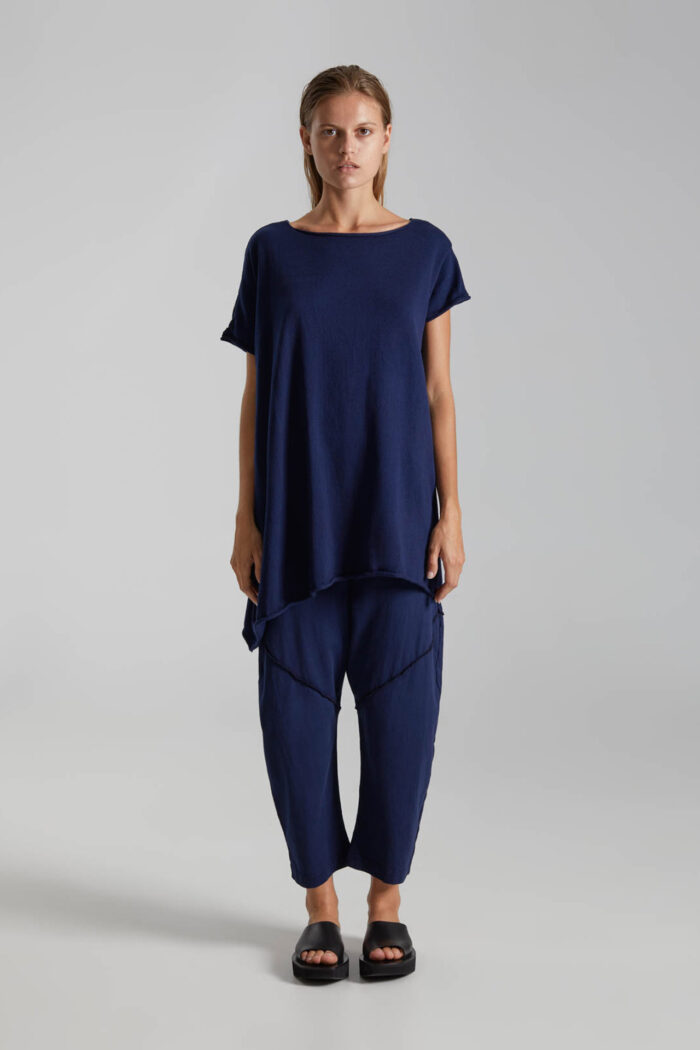 NAVY BLUE CACTUS TROUSERS