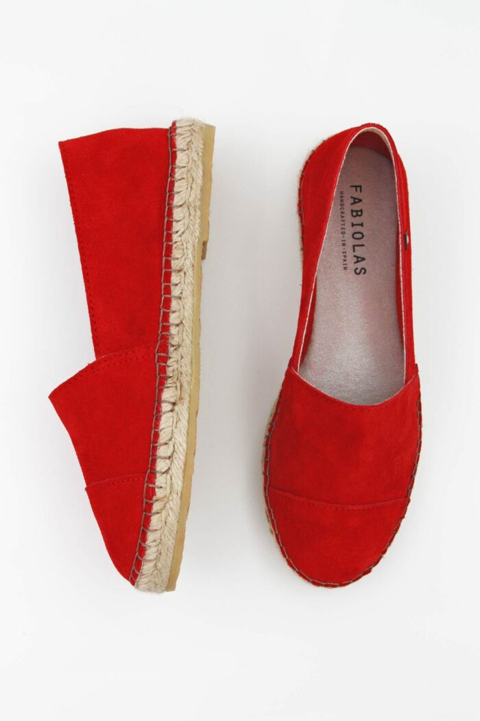 RED SUEDE WOMAN SHOES RED