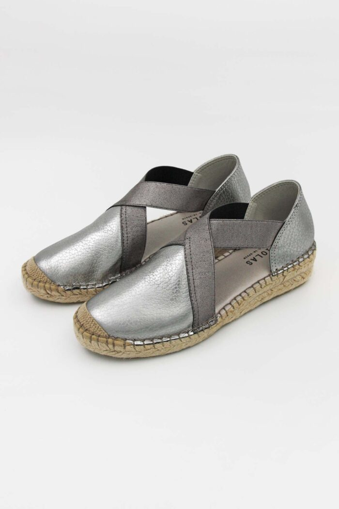 SILVER LEATHER WOMAN SHOES SILVER