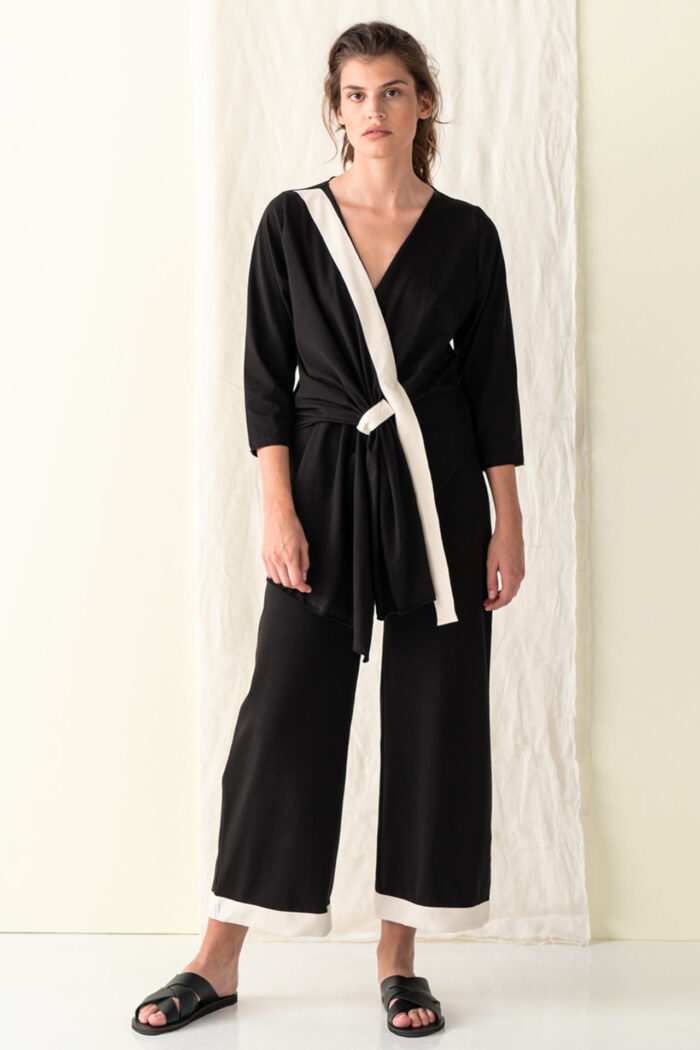 BLACK KOUFONISIA BASIC TROUSERS