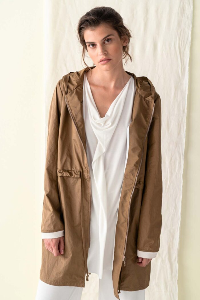 BROWN KOS PARKA WITH HOODIE