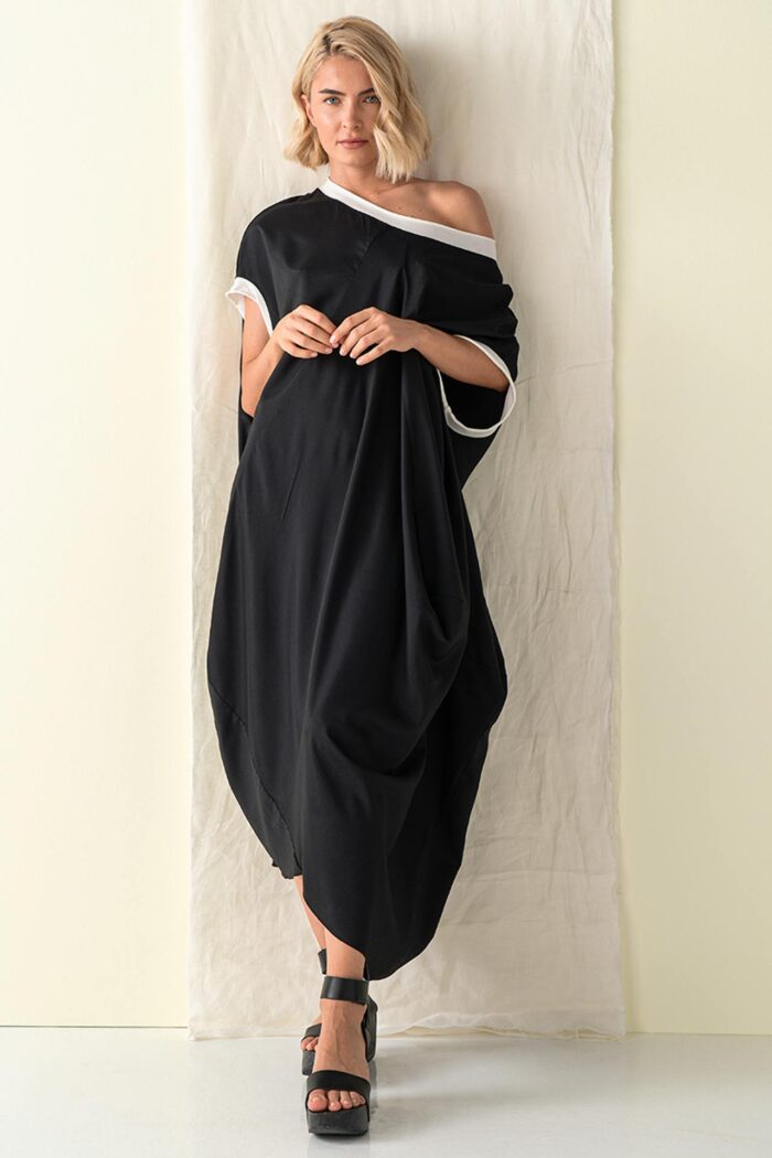 BLACK KASTOS OVERSIZE DRESS