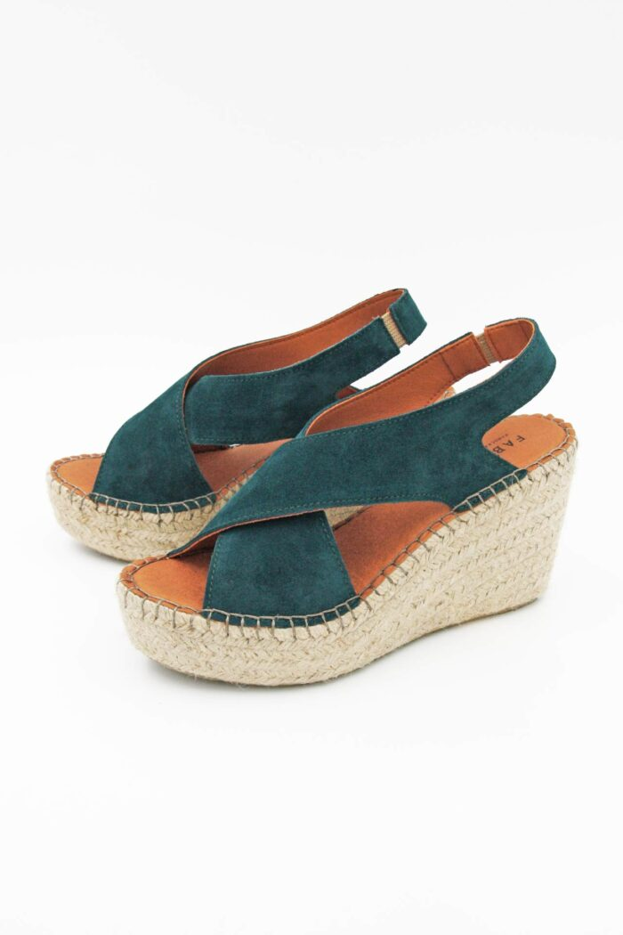 PETROL SUEDE WOMAN SHOES