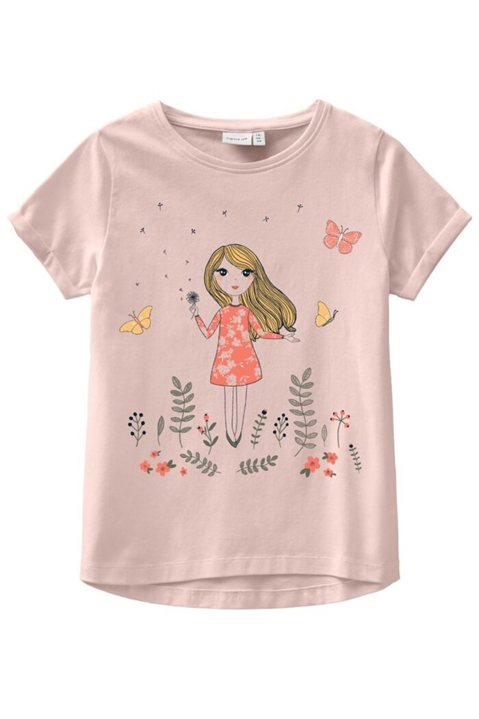 NAME IT PINK NECTAR SHORT SLEEVES TOP