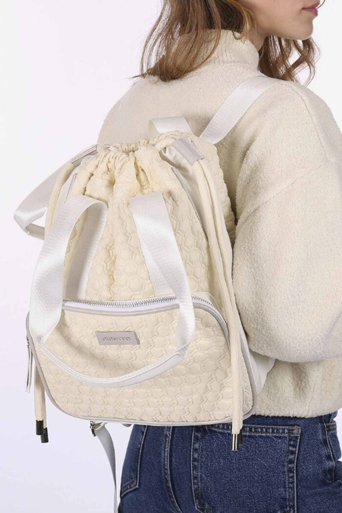 OFF WHITE BACKPACK WITH FRONT POCKET