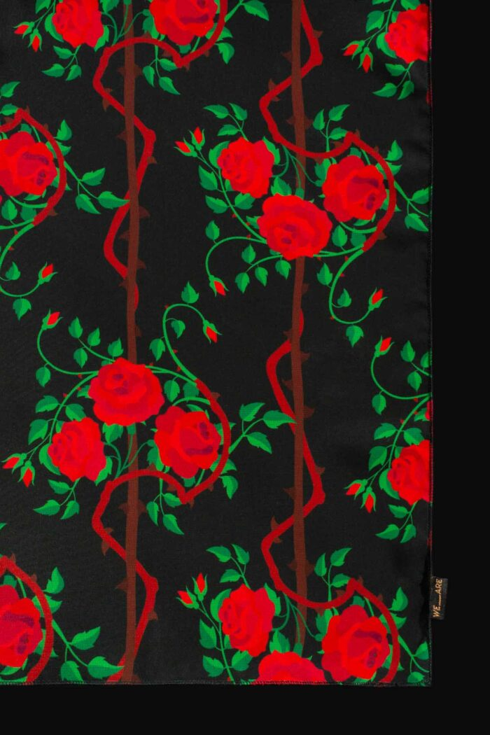 WE ARE ROSES CHIFFON SQUARE SCARF