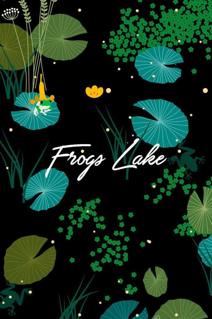 WE ARE FROGS LAKE CHIFFON SQUARE SCARF