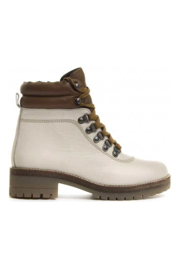 WIKERS ICE/TAN LEATHER ANKLE BOOTS