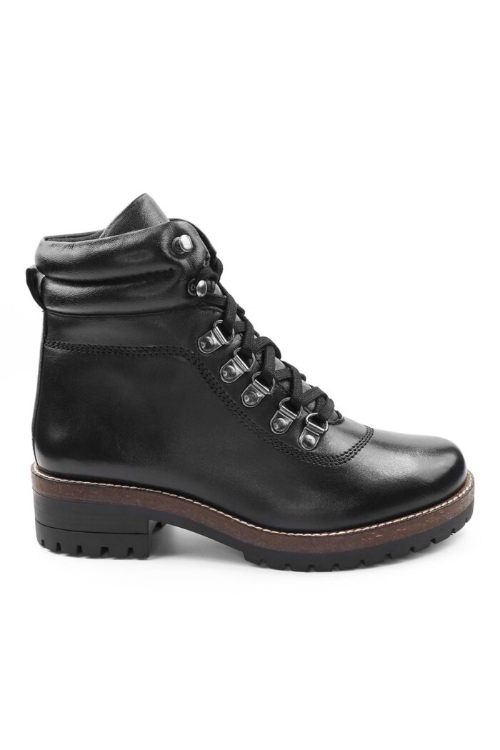 WIKERS BLACK LEATHER ANKLE BOOTS