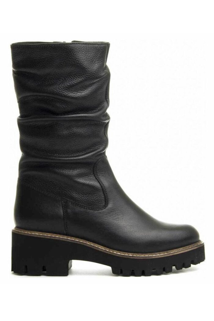 WIKERS BLACK LEATHER BOOTS